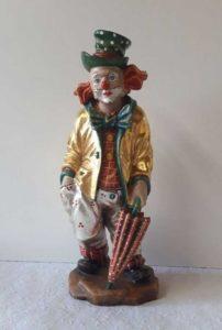 Profane Figur - Holzgeschnitzter Clown bemalt